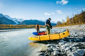 pack rafting near Haines alaska on the tsirku river and the klehini river in haines alaska